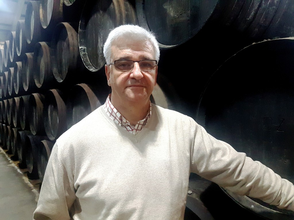 José Antonio Sánchez Pazo en la bodega Delgado Zuleta